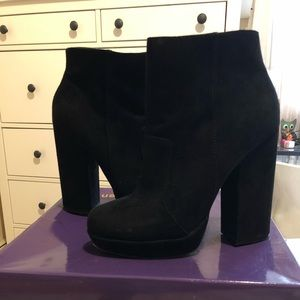 New Look suede block heel boots